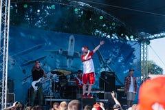 Concert of the Ukrainian rap artist Yarmak May 27, 2018 at the festival in Cherkassy, Ukraine.  Royalty Free Stock Images