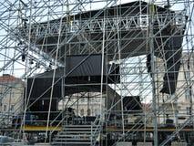 Concert Under Construction Stock Images