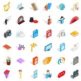 Concert version icons set, isometric style. Concert version icons set. Isometric set of 36 concert version vector icons for web isolated on white background vector illustration