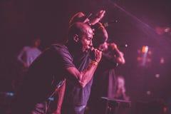 Concert vivant d'Outlawz à Moscou Russie Photographie stock libre de droits