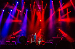 Concert vivant de bande du Texas Image stock