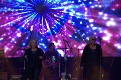 Concert vivant de supergroup bulgare Image libre de droits