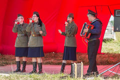 A concert of war songs in the Kaluga region in Russia. Royalty Free Stock Images