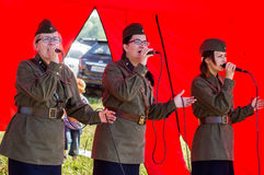 A concert of war songs in the Kaluga region in Russia. Royalty Free Stock Photography