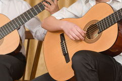 Concert of young guitarists. Royalty Free Stock Photos
