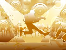Concerte (gold) Stock Image