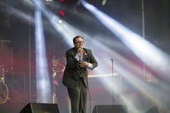 Concertez le groupe St Paul de musique de festival et les os cassés Photo stock
