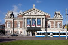 Concertgebouw Concert Hall in Amsterdam royalty free stock images