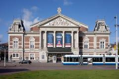 Concertgebouw filharmonia w Amsterdam obrazy royalty free