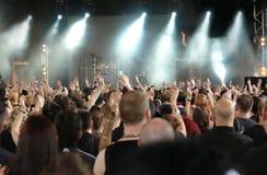 Concerti la folla Fotografia Stock