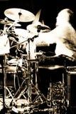 Concerto abstrato do baterista Foto de Stock Royalty Free