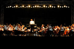 Concerto ao ar livre da noite Foto de Stock