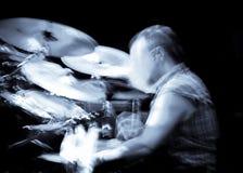 Concerto astratto del batterista Fotografia Stock