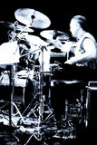 Concerto astratto del batterista Immagine Stock