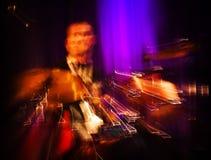 Concerto astratto del batterista. Fotografie Stock