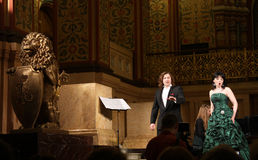 Concerto da ópera no salão do museu histórico de Moscovo fotografia de stock royalty free