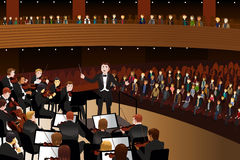 Concerto da música clássica Fotos de Stock Royalty Free