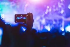 Concerto da música de festival da vídeo em direto dos povos do evento Imagens de Stock