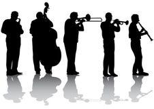 Concerto da música de jazz Fotografia de Stock Royalty Free