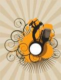 Concerto da música - laranja Foto de Stock Royalty Free