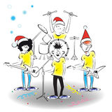 Concerto de ano novo ilustração royalty free