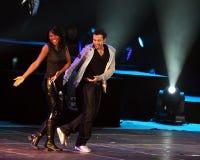 Concerto de Beijing da excursão do mundo de Backstreet Boys Imagem de Stock