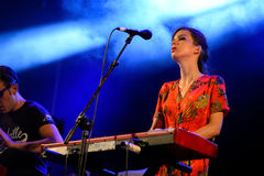 Concerto de Femme do La (faixa) no festival FIB Fotografia de Stock