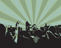 Concerto de rocha XI Fotos de Stock