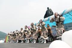Concerto dell'insieme nazionale Mengo di ballo di Koryak kamchatka Fotografia Stock Libera da Diritti