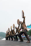 Concerto dell'insieme nazionale Mengo di ballo di Koryak Kamchatka, Russia Fotografie Stock Libere da Diritti