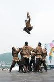 Concerto dell'insieme nazionale Mengo di ballo di Koryak Penisola di Kamchatka, Russia Fotografie Stock