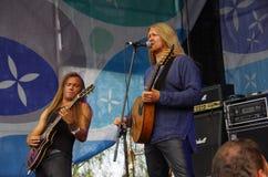 Concerto della banda Fejd (Svezia) al festival piega in Estoni Fotografie Stock