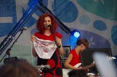 Concerto della banda Iva Nova Folk Festival in Estonia 5 Fotografie Stock Libere da Diritti