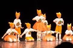 Concerto della danza contemporanea di Kolibri, Minsk, Bielorussia fotografia stock