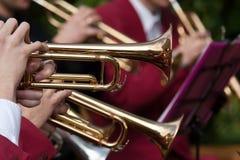 Concerto della tromba Fotografie Stock