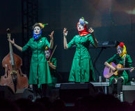 Concerto delle figlie di Dakh in Sentrum, Kiev, 23.04.2014 Fotografie Stock
