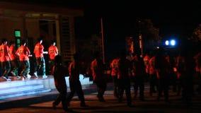 Concerto di notte dei bambini stock footage