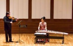 Concerto di Tanabata del giapponese con il koto ed il violino Immagine Stock Libera da Diritti