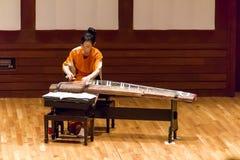 Concerto di Tanabata del giapponese con lo strumento del koto Immagini Stock Libere da Diritti