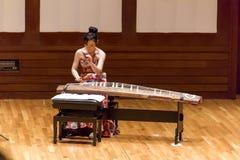 Concerto di Tanabata del giapponese con lo strumento del koto Fotografie Stock Libere da Diritti