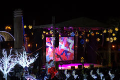 Concerto di vigilia del nuovo anno Fotografia Stock