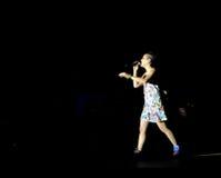 Concerto do cantor francês populal Zaz no festival de Francofolies em Blagoevgrad, Bulgária 18 06 2016 Foto de Stock