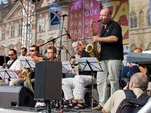 Concerto do jazz da rua fotos de stock