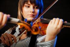 Concerto do violinista fotos de stock