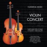 Concerto do violino Fotografia de Stock