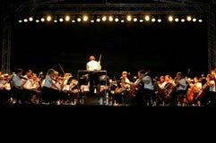 Concerto esterno di notte Fotografia Stock