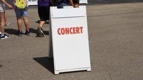 Concerto hoje à noite Imagens de Stock Royalty Free
