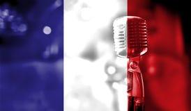 Concerto musical, bandeira do fim de França acima Fotos de Stock Royalty Free