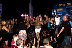 Concerto no telefone Aviv Boardwalk Imagens de Stock