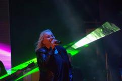 Concerto in tensione di Toni Dimitrova del cantante bulgaro Fotografia Stock Libera da Diritti